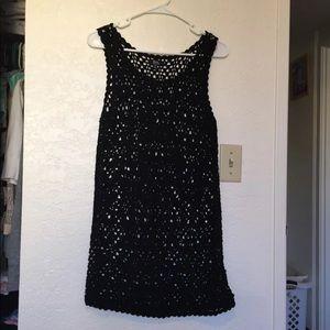 Black crochet skull dress